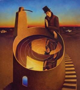 In fondo in fondo (olio su tela cm 100x90), Franco Fortunato